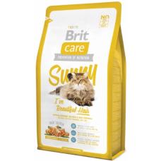 Brit Care Cat Sunny для кошек,шерсть которых требует дополнительного ухода
