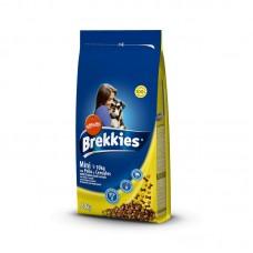 Brekkies Dog Mini Корм для собак мелких пород с курицей, говядиной и овощами