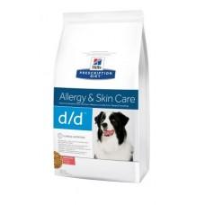 Лечебный сухой корм для собак Hill's Prescription Diet Canine Food Sensitivities d/d Salmon & Rice