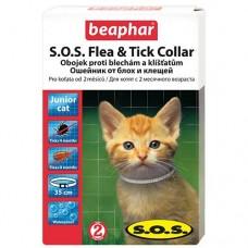 Beaphar SOS Flea and Tick Collar ошейник против блох и клещей для котят 35 см