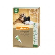 Advocate (Адвокат) капли для собак весом до 4 кг (1 пипетка)