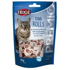 Лакомства для кошек Trixie 42732 Premio Tune Rolls с тунцом и мясом птицы