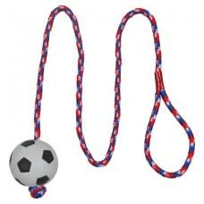 Мяч футбольный пористый на веревке 6 см Trixie 3307