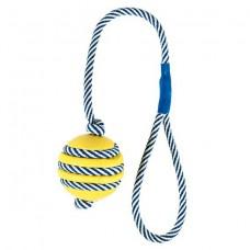 Игрушка для собак Trixie 34961 Мяч резиновый на фосфоресцирующем канате