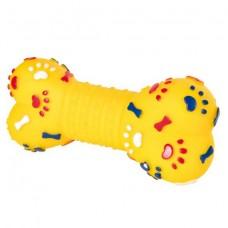 Виниловая игрушка для собак Trixie 3374 Кость с пищалкой (15 см)