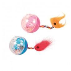 Trixie 4165 мячики пластиковые с хвостом (4 см)