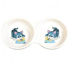 Керамическая двойная миска Trixie 4014