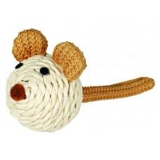 Игрушка для кошек Trixie 45758 Мышь из бумажной пряжи (Ø 5 см)